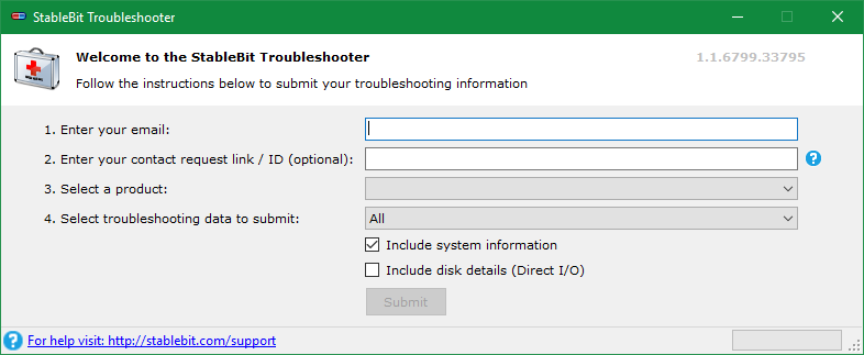 StableBit Troubleshooter